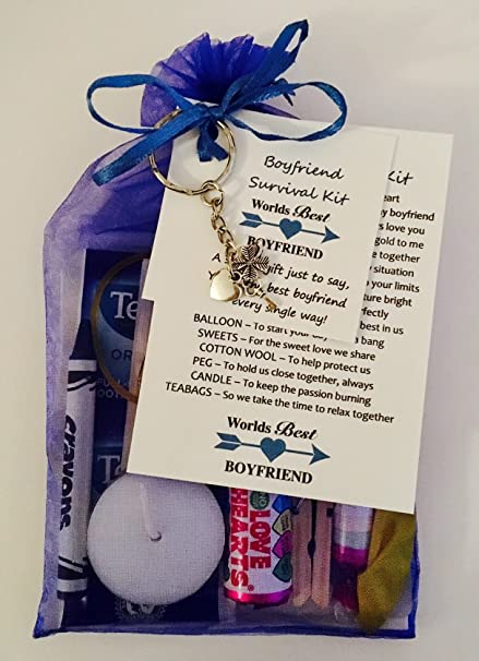 Boyfriend Girlfriend Survival Gift Kit Card Fantastic Present Gift For Birthday Christmas Valentines Day Great For Any Occasion Royal Blue Amazon Co Uk Office Products