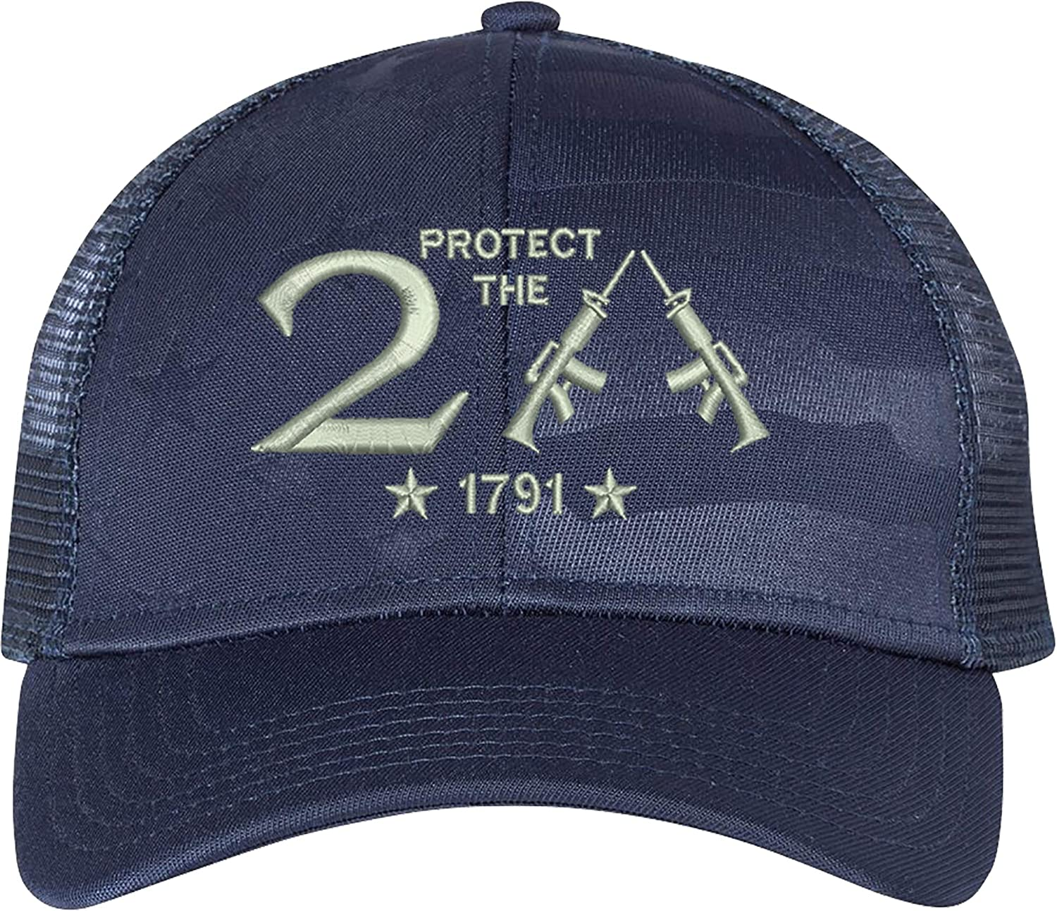 AmazingShirts Protect The 2nd Amendment 1791 AR15 Guns Right Freedom Embroidered One Size Fits All Structured Hats