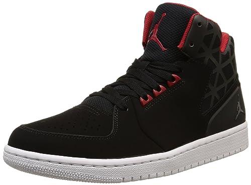 watch d9408 3b53a Nike Jordan 1 Flight 3, Zapatillas de Deporte Exterior para Hombre, Negro  Rojo Blanco (Black Gym Red-White), 44 1 2 EU  Amazon.es  Zapatos y  complementos