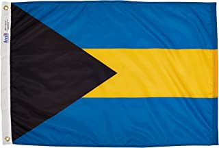 product image for Annin Flagmakers Model 190488 Bahamas Flag Nylon SolarGuard NYL-Glo, 2x3 ft, 100% Made in USA to Official United Nations Design Specifications