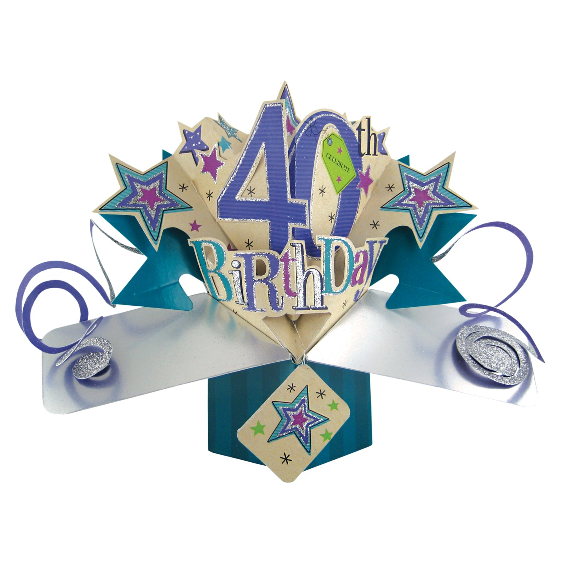 THE ORIGINAL POP UPS - 089 - 40TH BIRTHDAY - GREETING CARD [Office Product] by Second Nature Pop ups (Image #1)