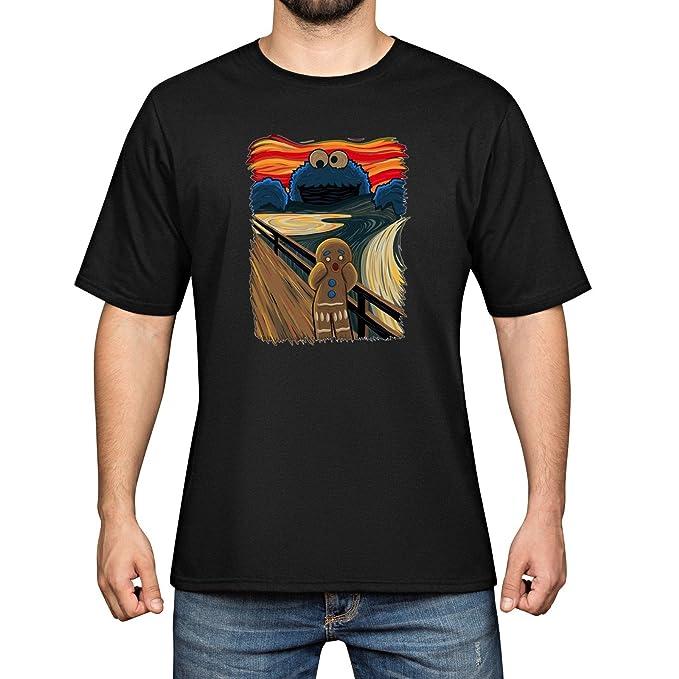 YAO Stars Skrik Cookie Monster Algodón para Hombre Funny Cool Black Camisetas  Camisetas de Manga Corta tee Size S  Amazon.es  Ropa y accesorios 7d93736887d