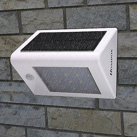 Homdox luces de paso Solar, Solar Sensor de movimiento luz Solar resistente al agua seguridad