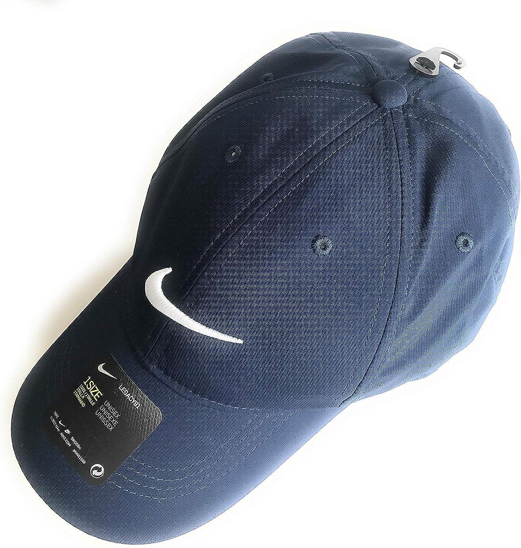 Men's Nike Dri-FIT Tech Golf Cap, Midnight Navy(AQ5349-410)/White, One Size : Clothing