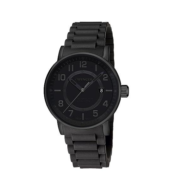 Wenger Reloj Analogico para Unisex de Cuarzo con Correa en Silicona 01.0341.112: Amazon.es: Relojes