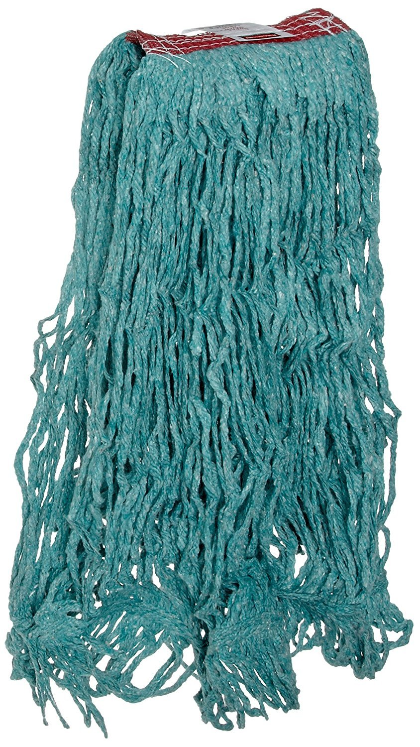 Rubbermaid Commercial Products FGD21306GR00 Super Stitch Blend Mop, Large, 1'' Green Headband (Pack of 6)