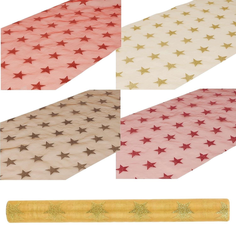 URBNLIVING Einweg-Tischläufer, bunt Red Fabric