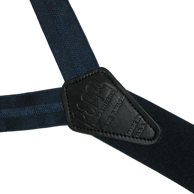 Regular Navy Perry Suspenders Mens Elastic Hook End Striped Dress Suspenders