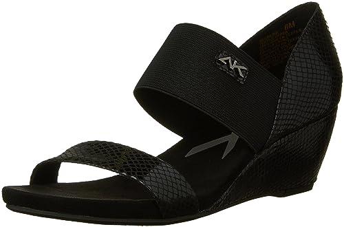 80a4674e77 Amazon.com | Anne Klein AK Sport Women's CAILINA Wedge Sandal, Black ...