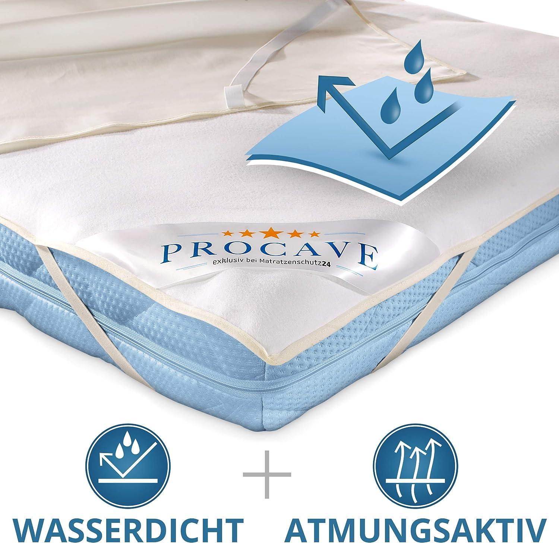 PROCAVE wasserdichter Matratzenschoner Babybett 50 x 100 cm Made in Germany wei/ß atmungsaktive Matratzenauflage Matratzenschutz ohne Knistern