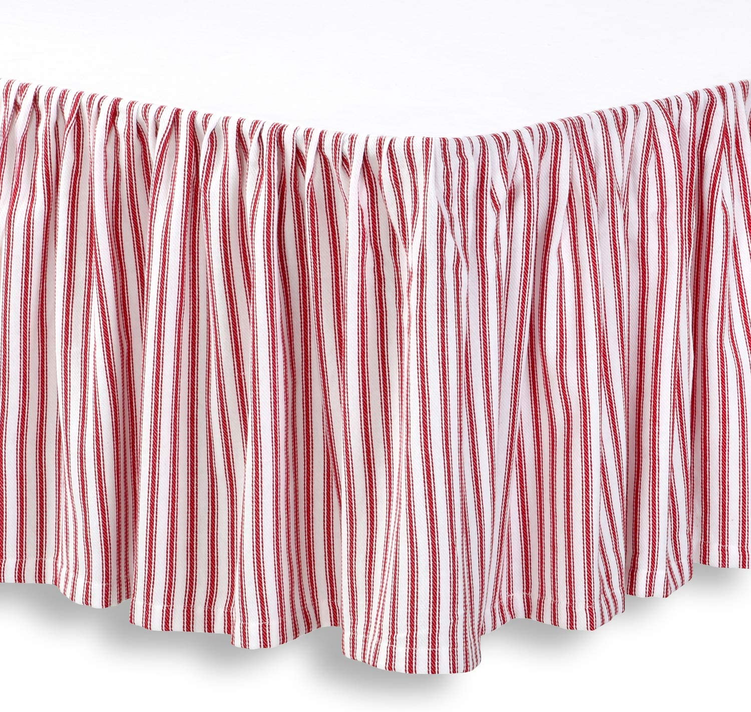 Sateen Stripe Tailored Bed Skirt 300 Thread Count FAST FREE HOLIDAY SHIPPING