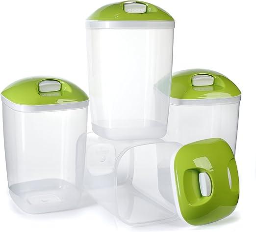 Paquete de 4 contenedores de plástico para cereales libres de BPA ...