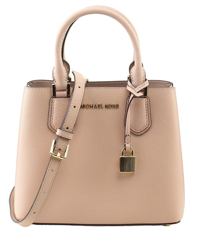 25ca44798cd2 Amazon.com  MICHAEL Michael Kors Women s Adele Pastel Pink Ballet Mercer  Medium Messenger Bag