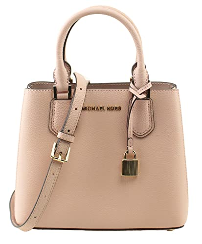 b92bec16606cf9 Image Unavailable. Image not available for. Color: MICHAEL Michael Kors  Women's Adele Pastel Pink Ballet Mercer Medium Messenger Bag ...