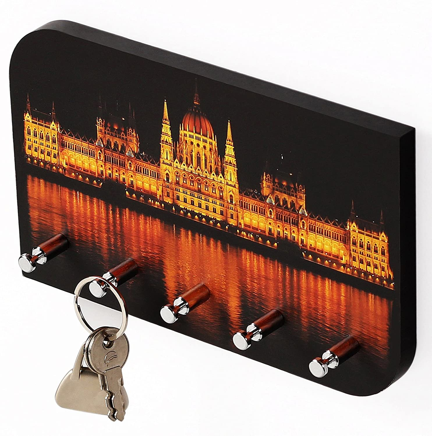 Bluewud Vivid Khvdpn Key Holder Rack Parliament Nightlit