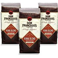 Don Francisco's Kona Blend, Medium Roast Ground, 100% Arabica Coffee (3 x 12 Ounce Bags)
