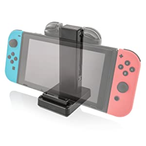 Nyko Charge Base - Charging Dock/Play and Charge Stand for Two Joy-Con Controllers and Switch Console with Included USB Type - C Power Cord for Nintendo Switch