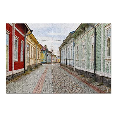 Rauma, Finland - Colorful Town Architecture 9026913 (Premium 500 Piece Jigsaw Puzzle for Adults, 13x19, Made in USA!): Toys & Games