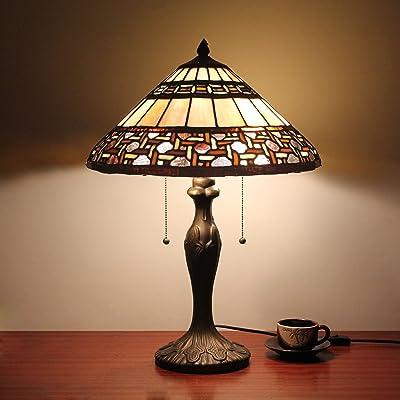 16 pouces Antique Tiffany Style lampe de table Lampe de chevet Lampe de bureau Lampe de salon Bar