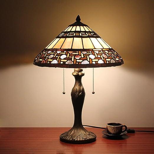 16 pulgadas Tiffany estilo antiguo lámpara de mesa lámpara de ...