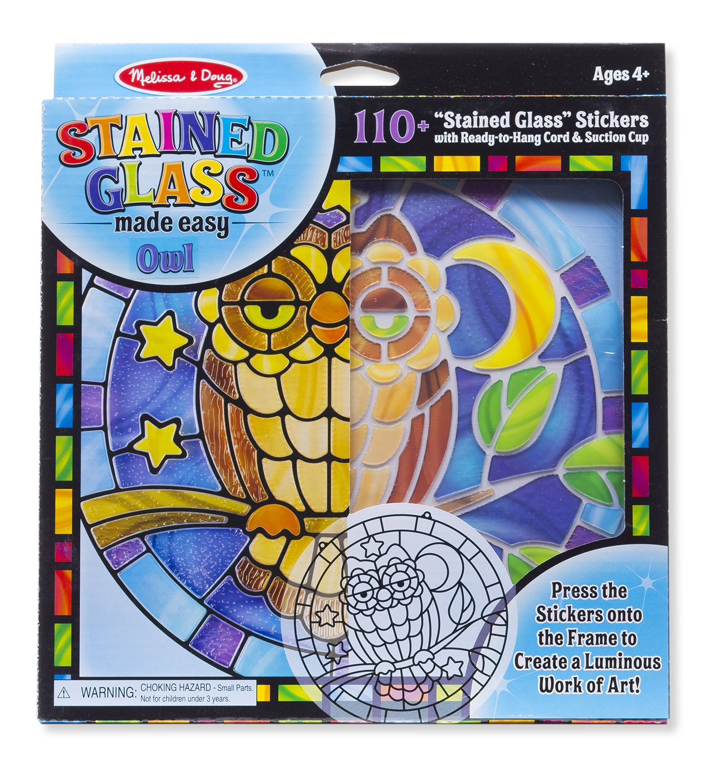Melissa & Doug Stained Glass Made Easy Craft Kit: Owl - 110+ Stickers Toy Melissa and Doug 9296