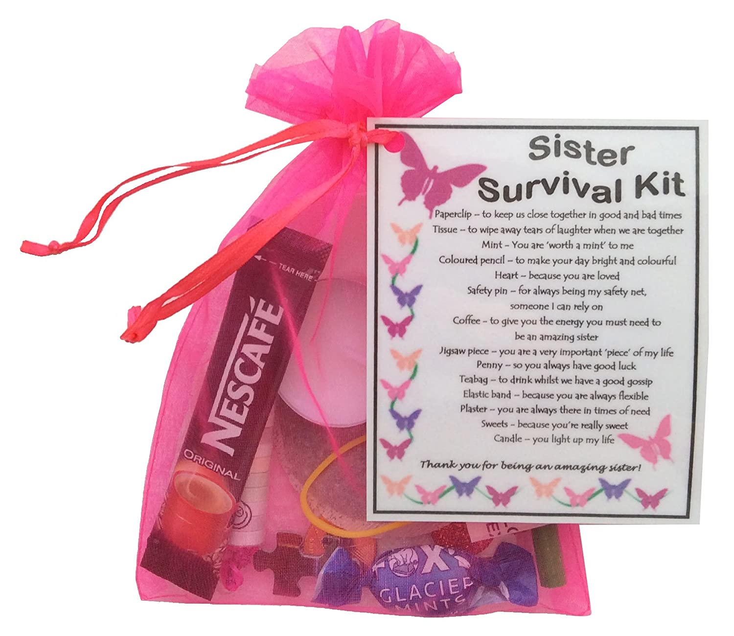 Amazon.com: Sister Survival Kit Gift (Great present for Birthday ...