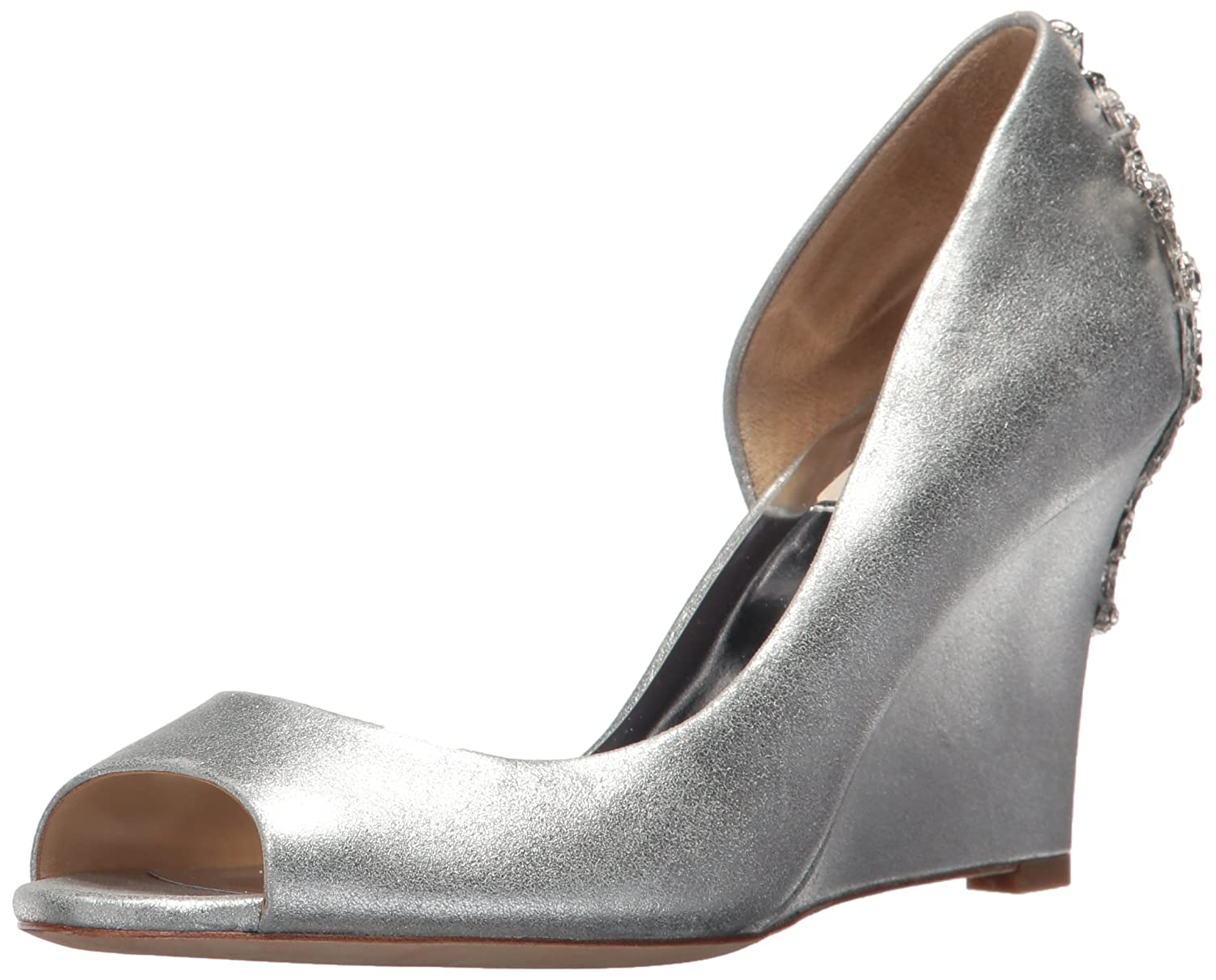 Badgley Mischka Women's Meagan II Pump B07352PNBX 8.5 B(M) US|Silver_44