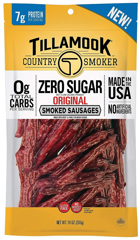Tillamook Country Smoker Zero Sugar Original Keto Friendly Smoked Sausages, 10 Ounce (Pack of 1)