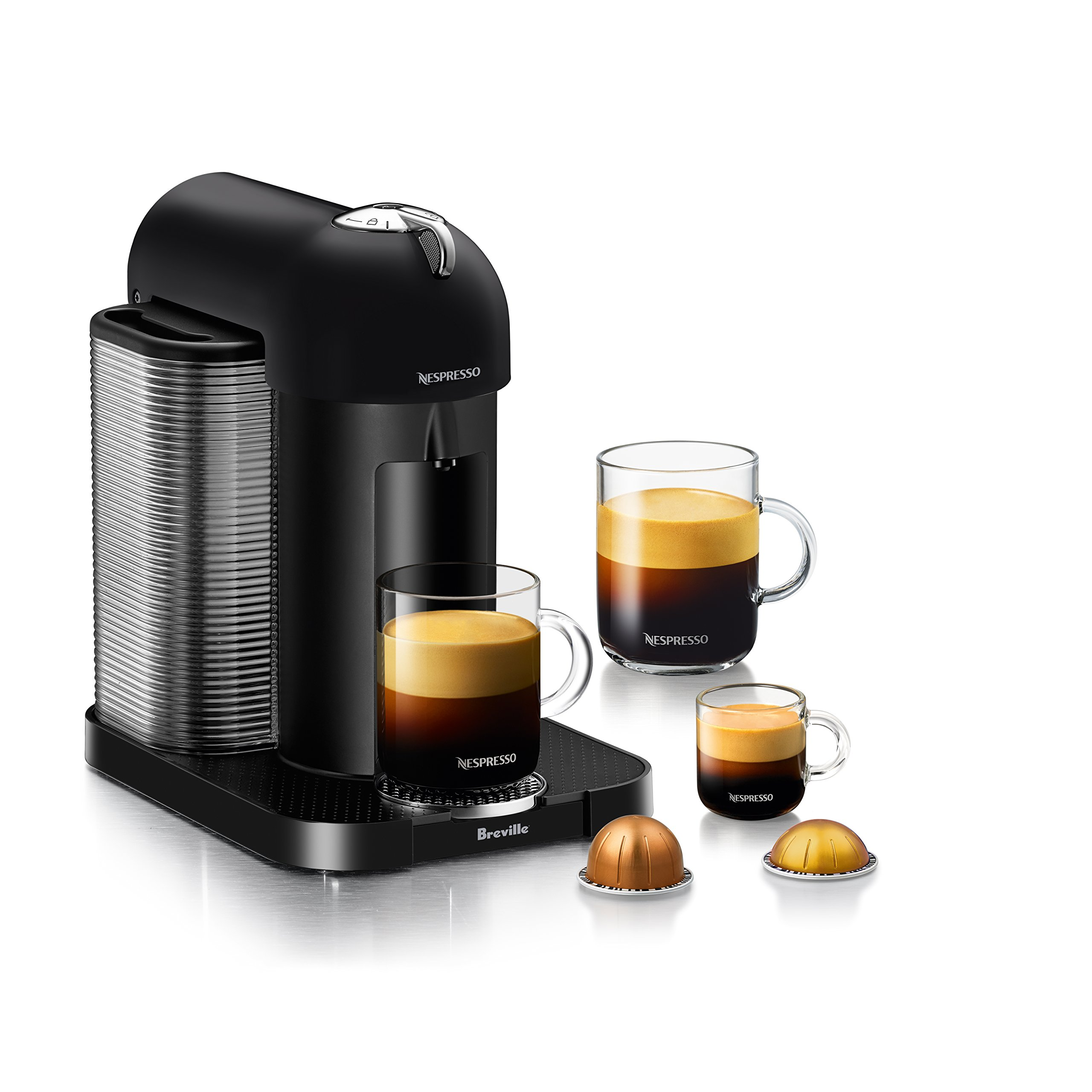Nespresso Vertuo Coffee and Espresso Machine by Breville, Matte Black by Breville (Image #2)
