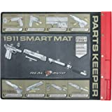 "Real Avid Handgun Smart Mat - 19x16"", Universal Pistol, Glock, 1911,  and M&P (select your style) Gun Cleaning Mat, Red Parts Tray"