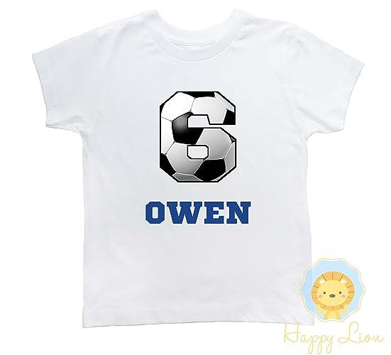 dd648273950 Amazon.com: Happy Lion Clothing - Soccer birthday shirt for boys, Sports birthday  shirt, Soccer shirt: Handmade