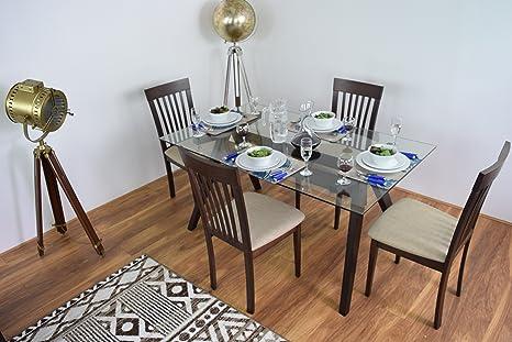 Tavolo Vetro Sala Da Pranzo.349 00 New Rettangolo Moderno Vetro Sala Da Pranzo Tavolo E 4 Sedie