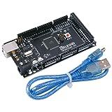 Elegoo MEGA 2560 R3 Controller Board ATmega2560 ATMEGA16U2 with USB Cable Black Version Compatible With Arduino Mega Kit