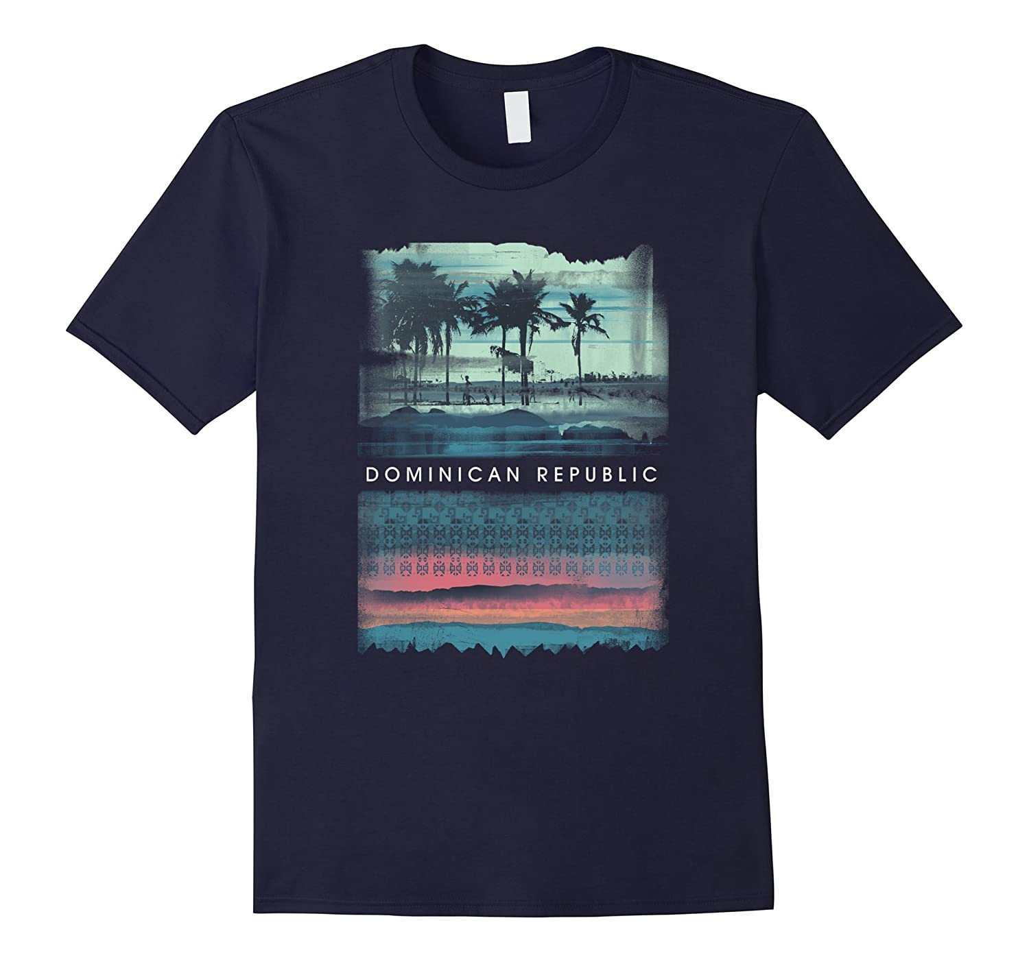 Vintage Dominican Republic Beach Tshirt Ocean Shirt Palm Tee-Art
