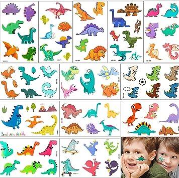 Dinosaurio Tatuajes Pegatinas Linda Para Niños Niñas, MOOKLIN ...