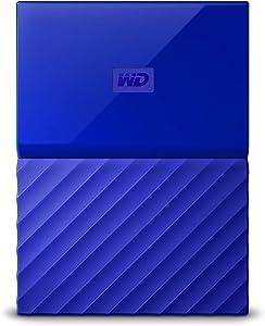 WD 2TB Blue My Passport Portable External Hard Drive - USB 3.0 - WDBS4B0020BBL-WESN