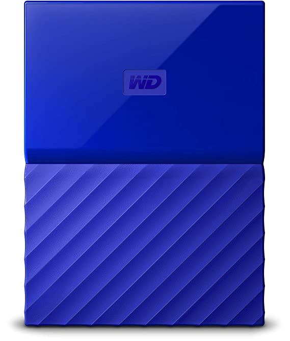 Western Digital BS4B0020BBL-WESN My Passport 2TB Portable External Hard  Drive (Blue) with Automatic Backup and Hardware Encryption & Password