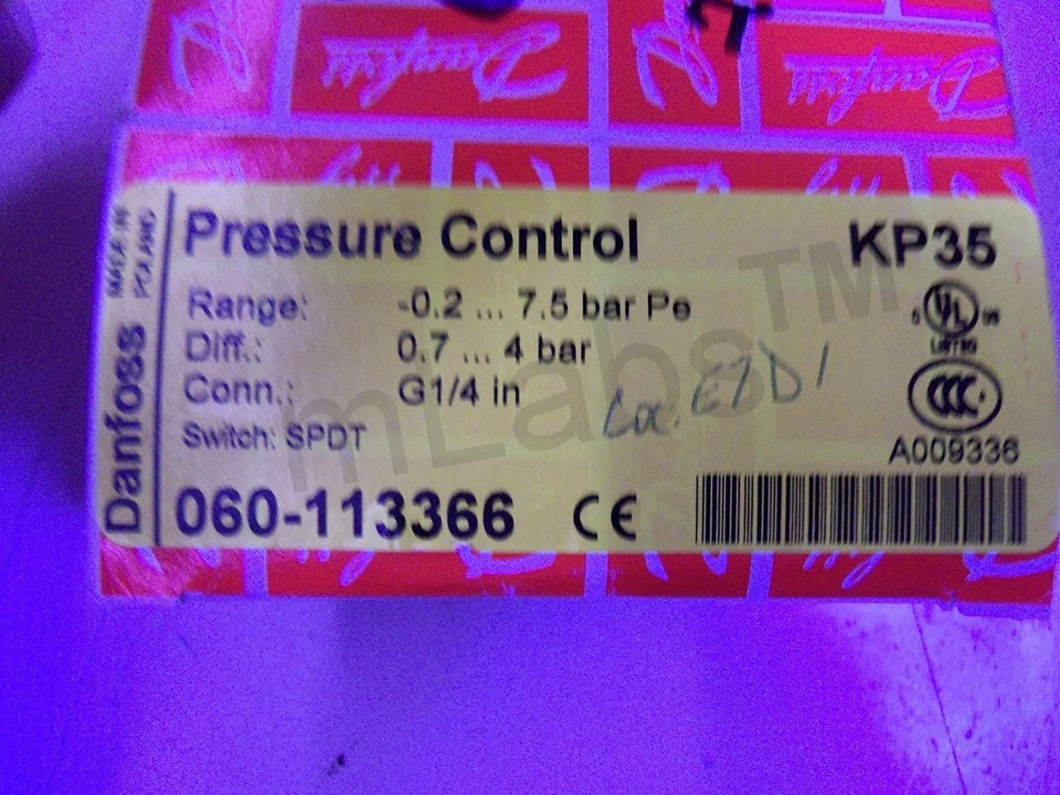 Mlabs Danfoss Pressure Switch 060 113391 For Water Pumps Amazon Pump Should Only Be Done On The S Industrial Scientific