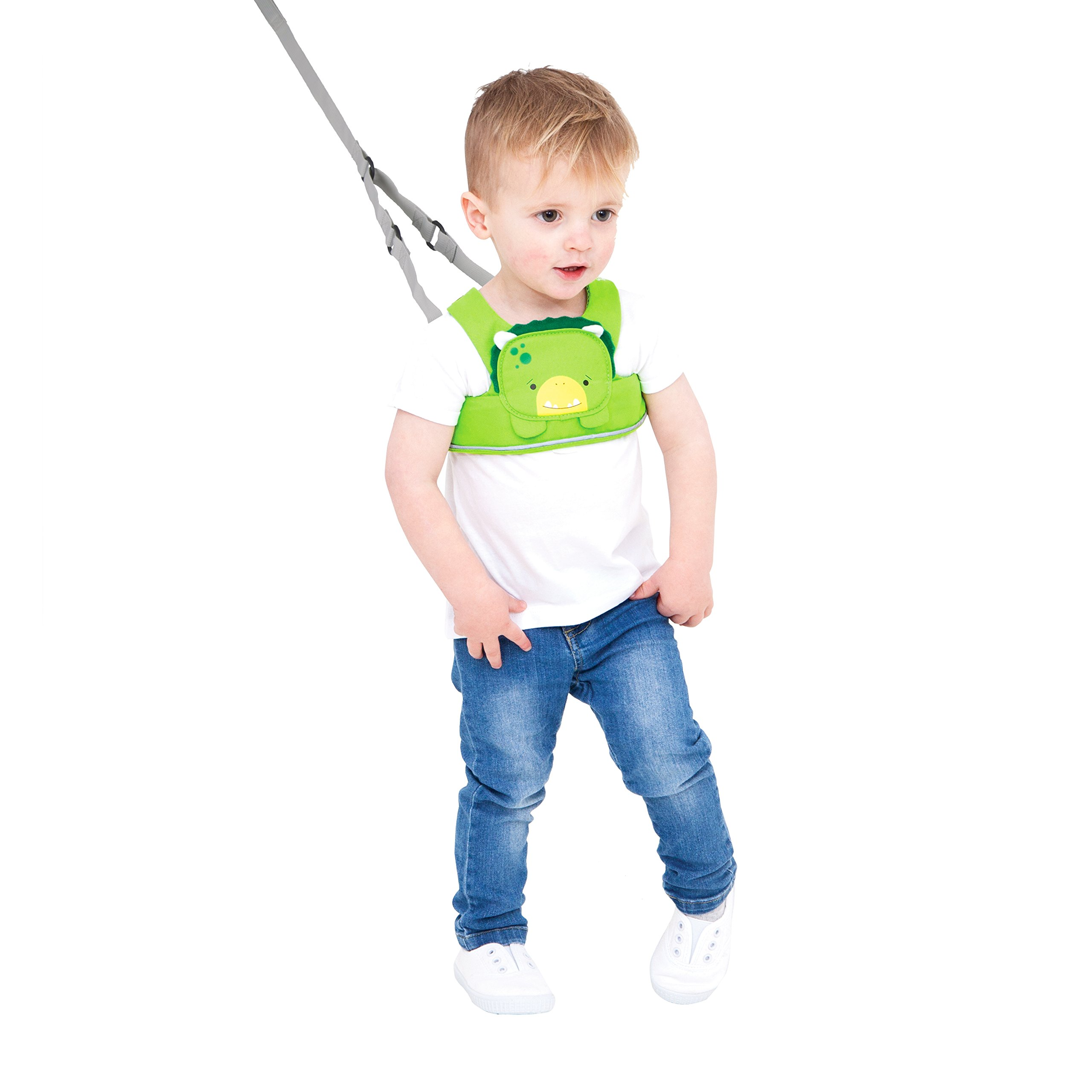Trunki ToddlePak - Fuss Free Toddler Walking Leash & Kid's Safety Harness – Dudley Dinosaur (Green) by Trunki (Image #1)