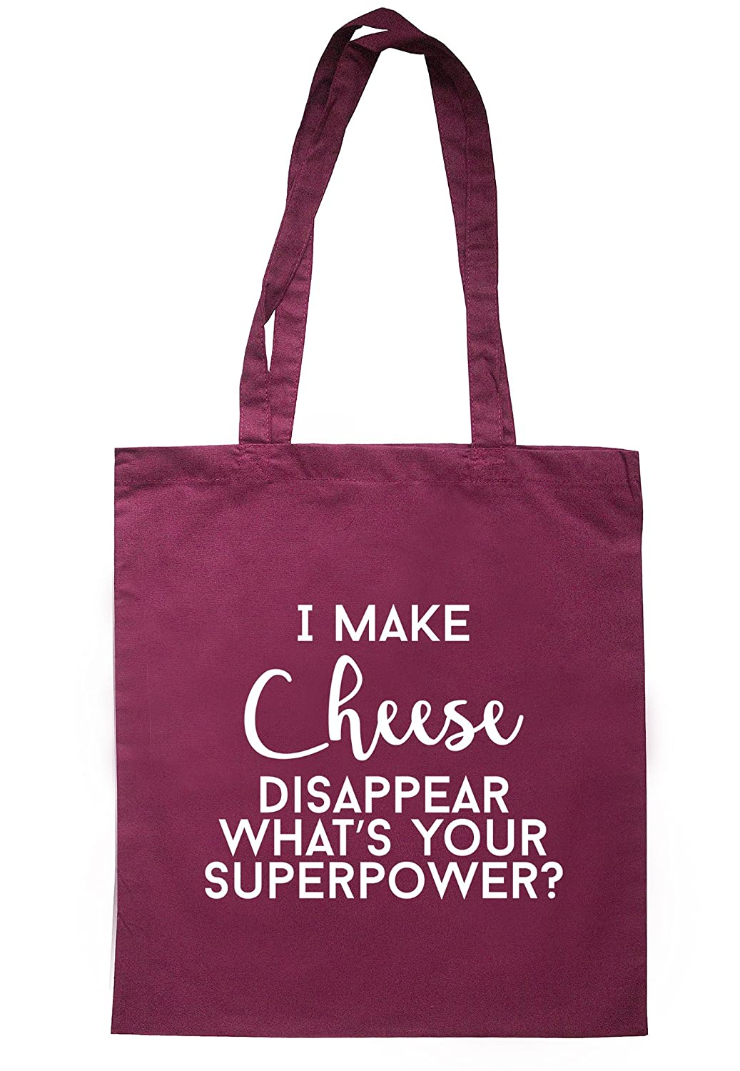 illustratedidentity I Make Cheese Disappear What's Your Superpower? Tote Bag 37.5cm x 42cm with long handles TB1384-TB-NV