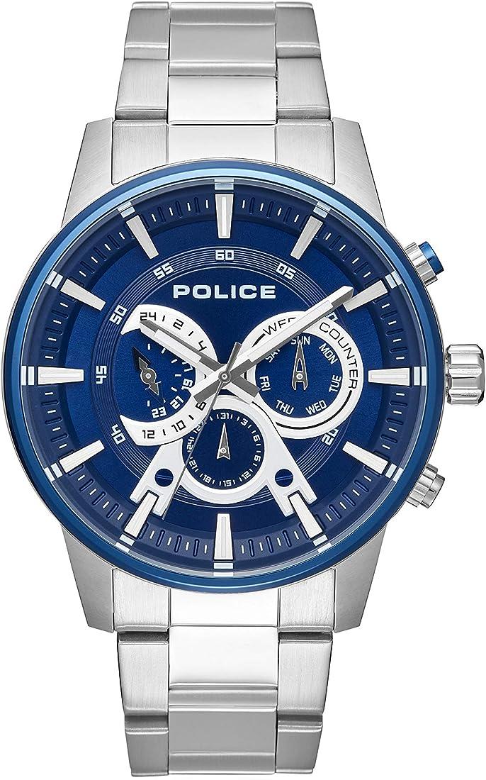Police orologio multi-quadrante quarzo uomo con cinturino in acciaio inox 15525jstbl/03m