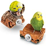 Dubbelpackad härlig kork boredom brytare fågelleksak   som benben eller mineralblock för budgie   bra kork för fåglar…