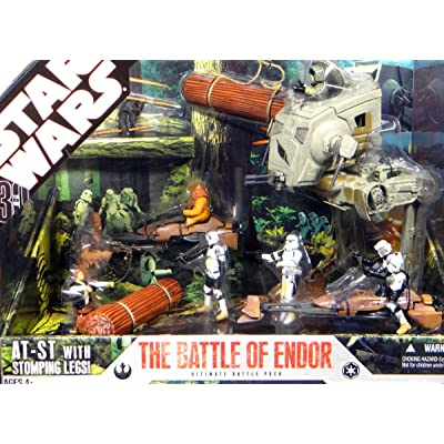 Star Wars 30th Anniversary Saga 2007 Exclusive Action Figure Mega-Pack The Battle of Endor: Toys & Games [5Bkhe0307331]