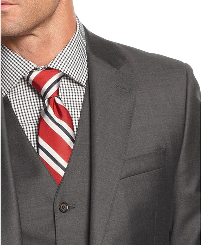 Ralph Lauren Ultraflex Gray Pindot nuevo hombre traje de tres ...