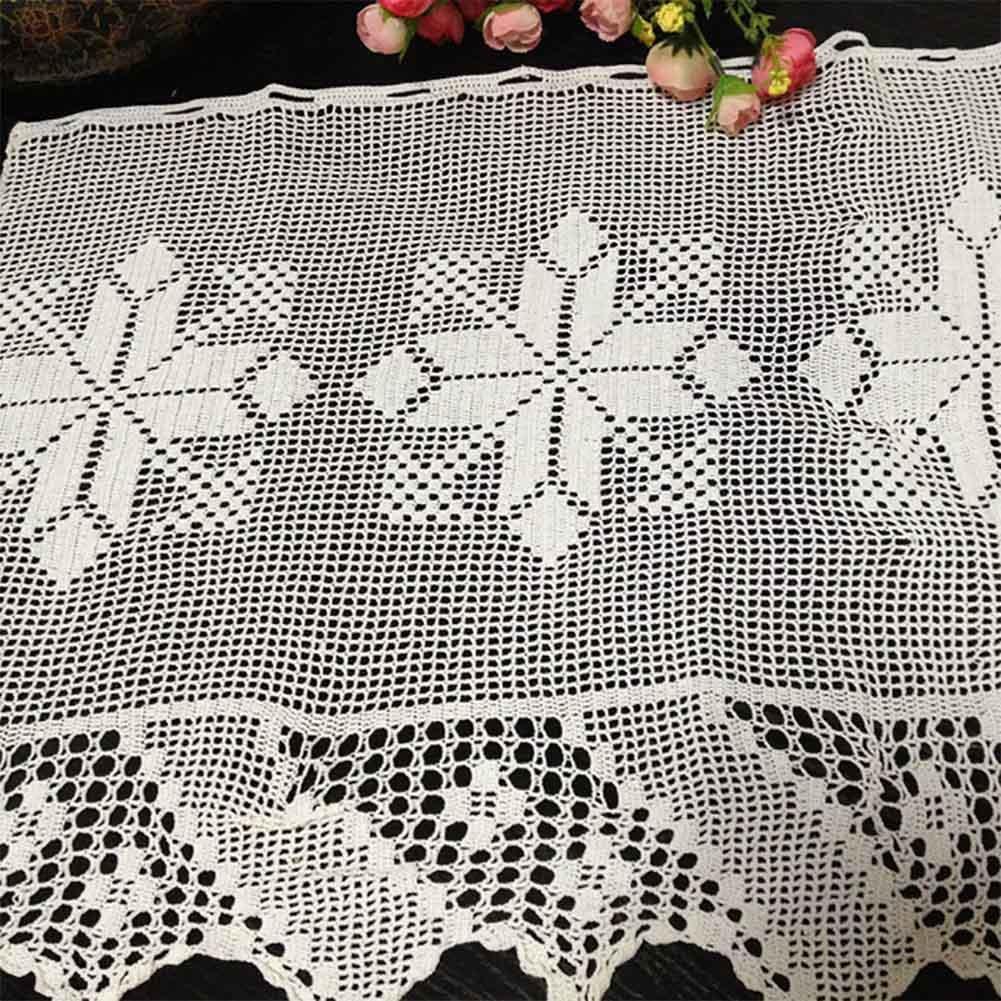 ZHANG-Ganchillo de la mano mitad de la cortina del sofá toalla cubierta decoración hueco de ventana cortina de la sala de estar 50 * 180cm: Amazon.es: Hogar