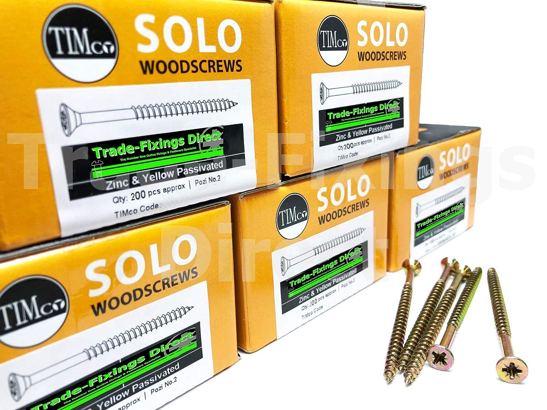 Confezione da 1000-5,0 x 50 mm professionale TIMCO Solo viti per legno a testa svasata Pozi