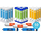 Express Water – 3 Year Reverse Osmosis System Replacement Filter Set – 23 Filters with 50 GPD RO Membrane, Carbon GAC, ACB, P
