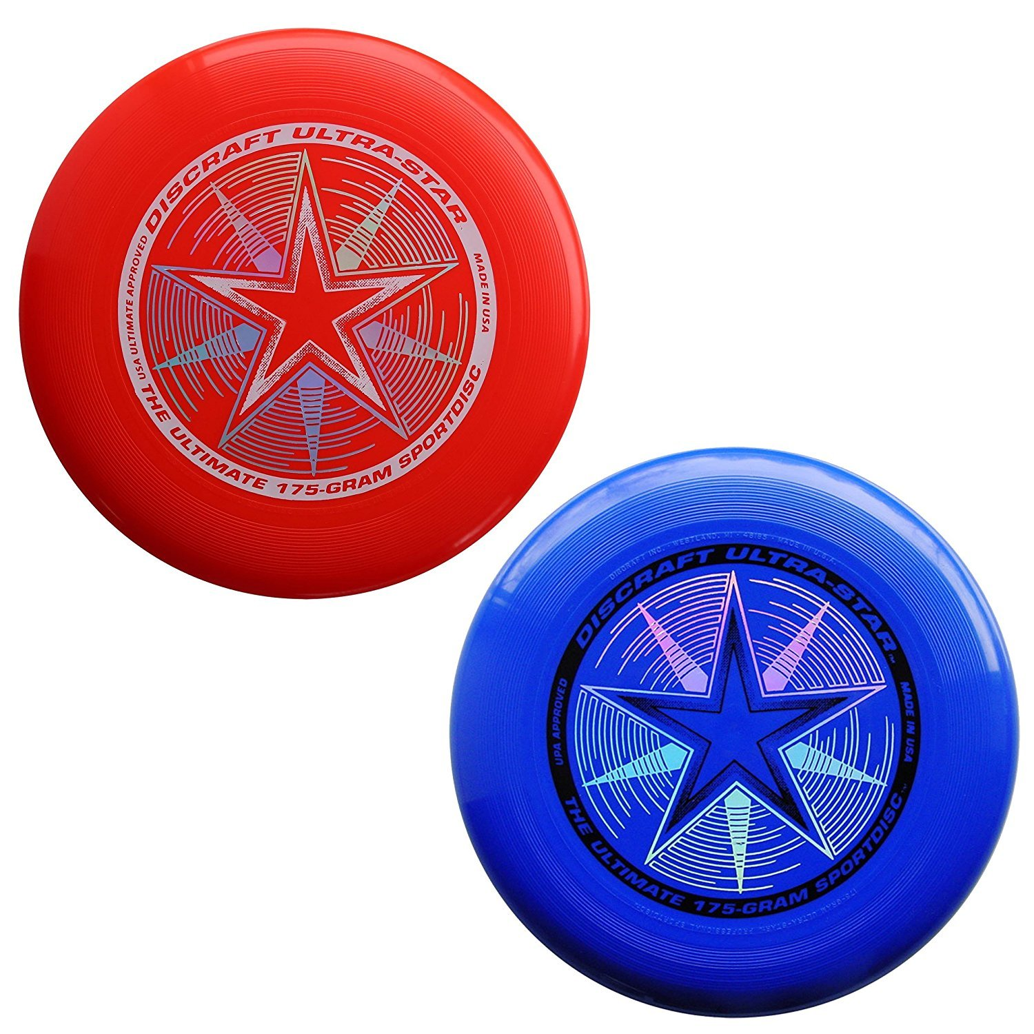 Discraft 175 gram Ultra Star Sport Disc - 2 Pack... (Red & Blue) by Discraft
