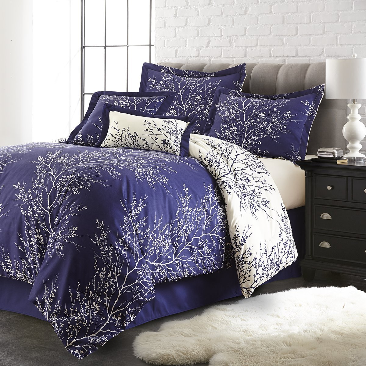Plum and green bedding - Ivory Home Kitchen Purple Bedding