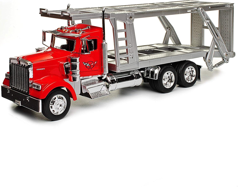 Kenworth W900 Rot Autotransporter Zugfahrzeug 3 Achser LKW Truck 1//32 Welly Modell Auto mit individiuellem Wunschkennzeichen